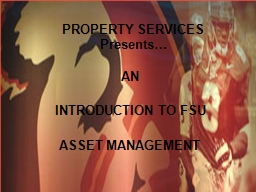 PROPERTY SERVICES PowerPoint PPT Presentation