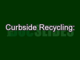 Curbside Recycling: