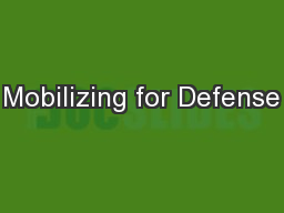 Mobilizing for Defense