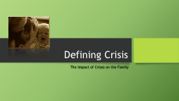 Defining Crisis PowerPoint PPT Presentation