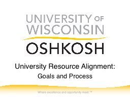 University Resource Alignment: