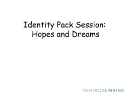 Identity Pack Session: PowerPoint PPT Presentation