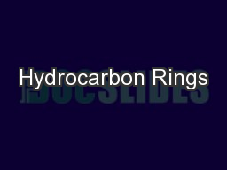 Hydrocarbon Rings