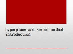 hyperplane and kernel
