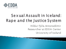 Sexual Assault in Iceland: