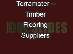 Terramater – Timber Flooring Suppliers & Specialists in Melbourne