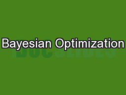 Bayesian Optimization