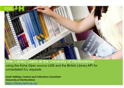 Inter Library Loans at the University of Hertfordshire