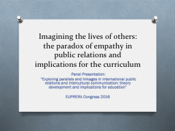 Imagining the lives of others: PowerPoint PPT Presentation