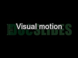 Visual motion PowerPoint PPT Presentation