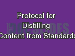 Protocol for Distilling Content from Standards