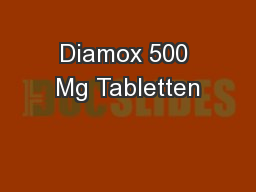 Diamox 500 Mg Tabletten