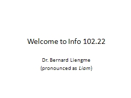Welcome to Info 102.22