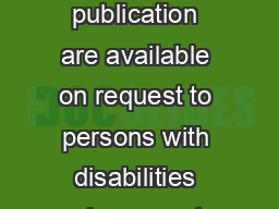Cornell University  M Alternative formats of this publication are available on request to persons with disabilities who cannot use the printed format