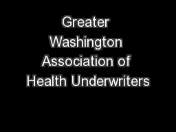 Greater Washington Association of Health Underwriters