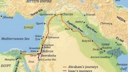 Abraham traveled from there toward the land of the arid sou