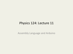 Physics 124: Lecture 11