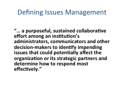 Defining Issues Management
