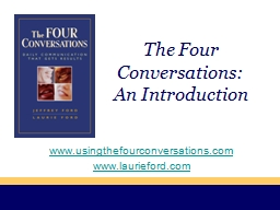 The Four Conversations:
