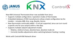 New KNX Universal Thermostat driver now available from Janu