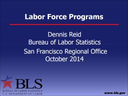Labor Market Information  Methodology and uses