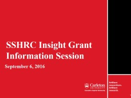 SSHRC Insight Grant Information Session