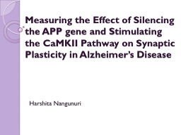 Measuring the Effect of Silencing the APP gene and Stimulat