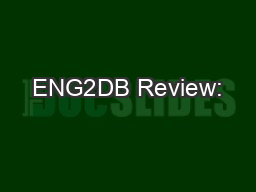 ENG2DB Review: