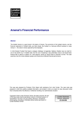 Arsenals Financial Performance Abstract The football i