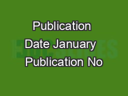 Publication Date January  Publication No PowerPoint PPT Presentation