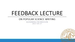 on popular science writing