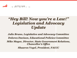 """Hey Bill! Now you're a Law!"" PowerPoint PPT Presentation"