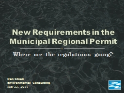 Where are the regulations going? PowerPoint PPT Presentation