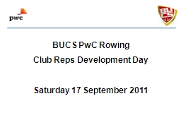 BUCS PwC Rowing