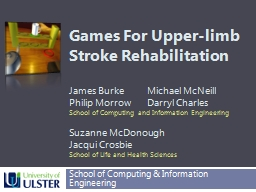 Games For Upper-limb PowerPoint PPT Presentation