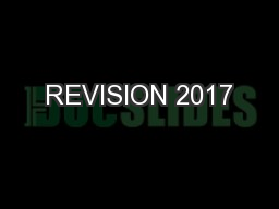 REVISION 2017