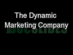 The Dynamic Marketing Company