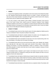 CODE OF CONDUCT FOR CHARTERED ACCOUNTANCY STUDENTS