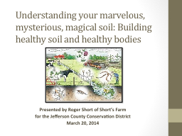 Understanding your marvelous, mysterious, magical soil: Bui
