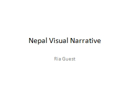 Nepal Visual Narrative