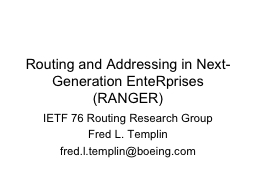 Routing and Addressing in Next-Generation EnteRprises (RANG