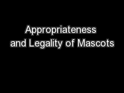 Appropriateness and Legality of Mascots
