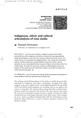 ARTICLE INTERNATIONAL journal of CULTURAL studies Cop
