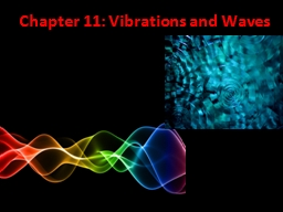 Chapter 11: Vibrations and Waves