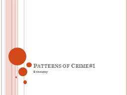 Patterns of Crime #1 PowerPoint PPT Presentation