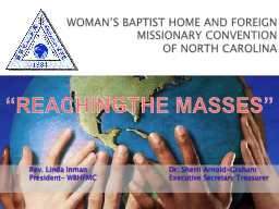 WOMAN'S BAPTIST HOME AND FOREIGN MISSIONARY CONVENTION