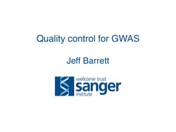 Quality control for GWAS