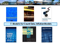 7. Models for Count Data, Inflation Models