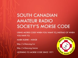 South Canadian amateur radio society's