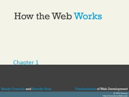 How the Web